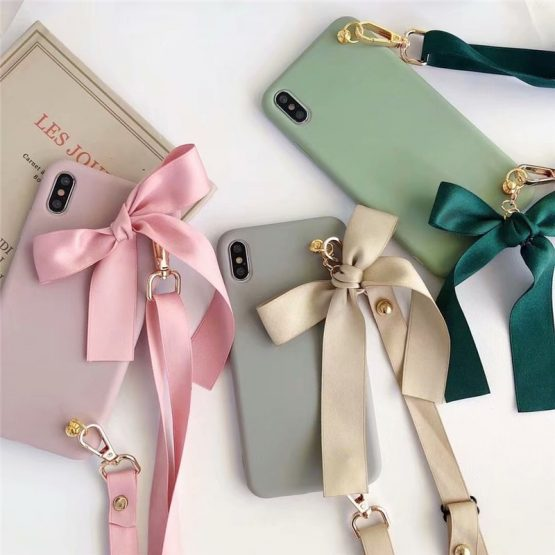JAMULAR Fashion Lanyard Phone Case For iPhone XS MAX 11 Pro XR X 6 6s 7 8 Plus Crossbody Soft Silicone Back Cover Strap Fundas