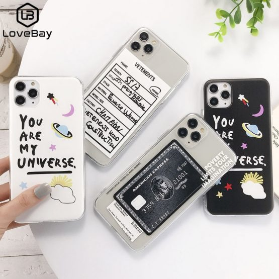 Lovebay Transparent Label Letters Phone Case For iPhone 11 Pro Max Lovebay Transparent Label Letters Phone Case For iPhone 11 Pro Max X XS XR Xs Max Soft TPU Clear Cover For iPhone 6 6s 7 8 Plus.
