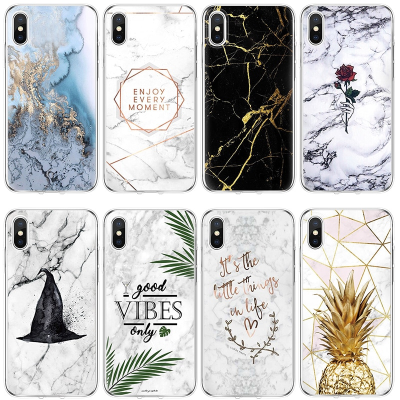 Marble for Samsung A51 A71 A8 J3 J5 J7 S7 S8 S9 Plus A40 A50 A70 for Coque iPhone 11 Pro Max XS XR X 7 8 6 6S Plus Case Cover