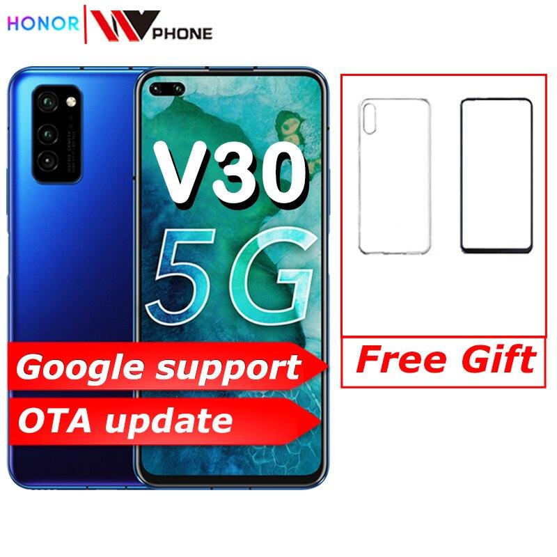 Original Honor V30 Kirin990 Octa core 5G Smartphone 6GB 8GB 128GB 40mp Triple Camera 40W SuperCharge 5G Mobile Phone