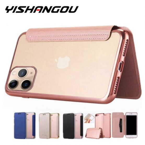 Luxury Wallet Flip Book PU Leather Phone Case For iPhone 11 XR XS Max 5 5S SE 6 6S 7 8 Plus Transparent Clear Back Cover Shell