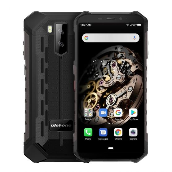 """Ulefone Armor X5 Rugged Mobile Phone 5.5"""" Android 9.0 MTK6763 Octa Core Cellphone 3GB+32GB Face ID 5000mAh OTG NFC Smartphone"""