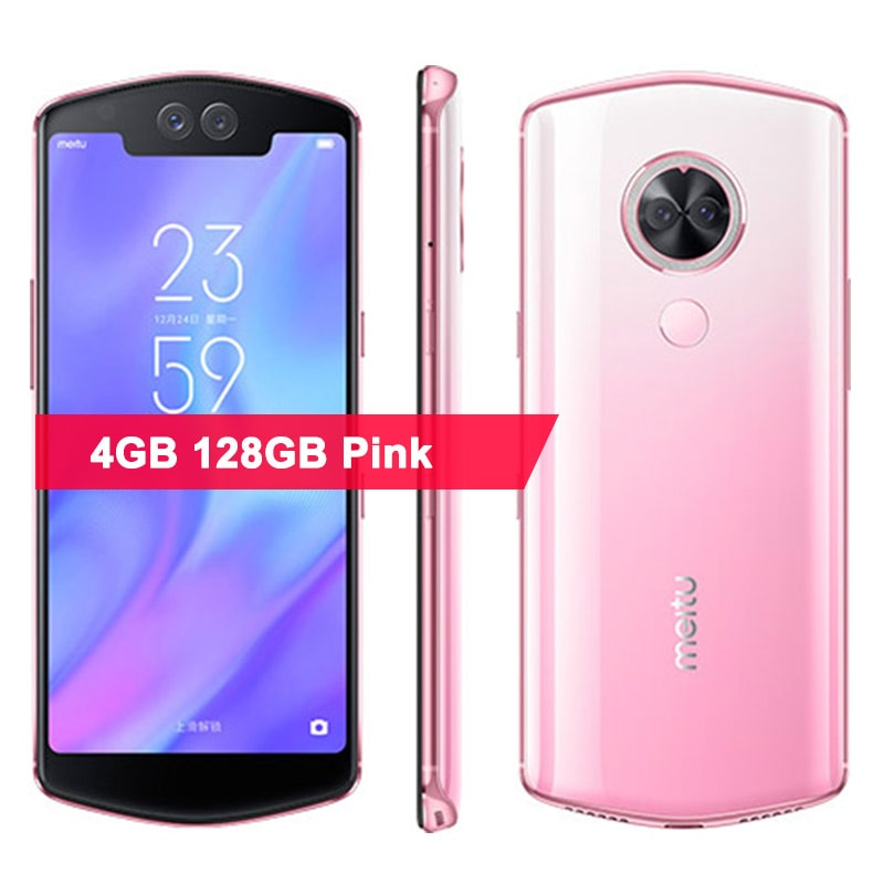 "Original Meitu T9 Mobile Phone 5.88"" 18.7:9 4GB RAM 128GB ROM Snapdragon 660 Octa Core 4 Cameras 12.0+5.0MP 2900mAH Smartphone"