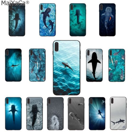 MaiYaCa Ocean Whale Shark Swimming Luxury Phone Cover for Apple iphone 11 pro 8 7 66S Plus X XS MAX 5S SE XR Cases