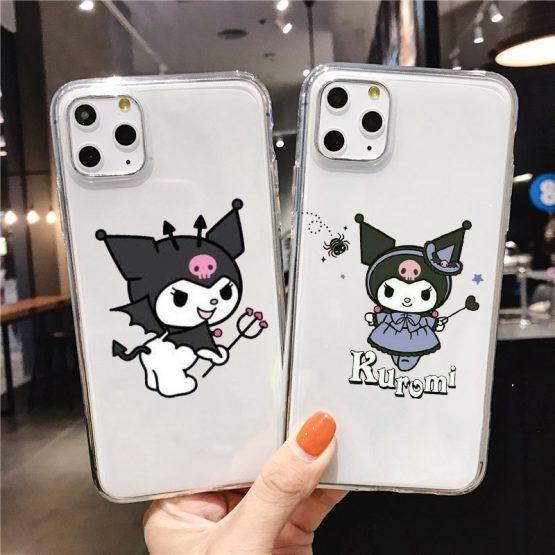 Kuromi Cute transparent Soft Silicone TPU Phone Cover for iPhone Kuromi Cute transparent Soft Silicone TPU Phone Cover for iPhone 5 SE 6s 7 8 Plus X XR XS Max 11 11Pro 11Pro Max.