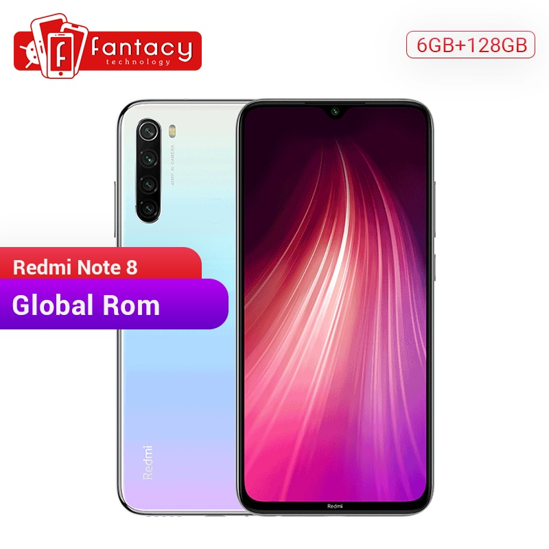"Global ROM Redmi Note 8 6GB 128GB 48MP Quad Cameras Smartphone Snapdragon 665 Octa Core 6.3"" FHD Display UFS 2.1 4000mAh QC 3.0"