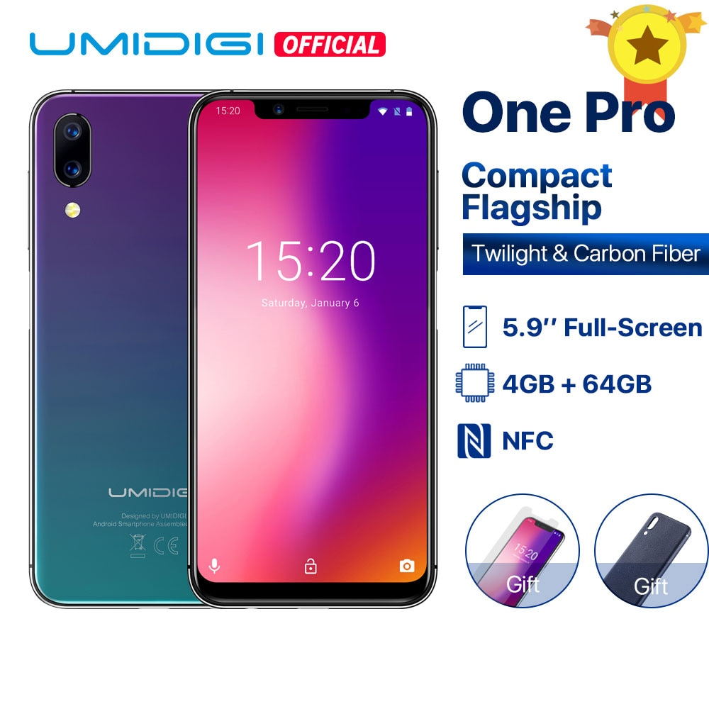 """UMIDIGI One Pro Global Band 5.9"""" Android 8.1 wireless charge 4GB 64GB Octa Core smartphone Dual 4G NFC Ship from Latvia"""