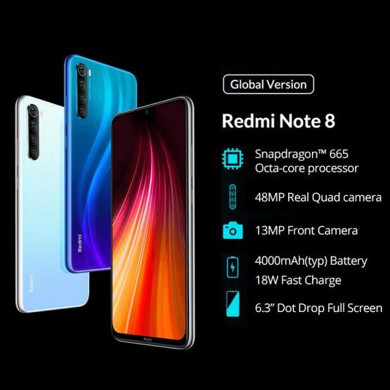 Global ROM Xiaomi Redmi Note 8 6GB 64GB 48MP Quad Camera Smartphone Global ROM Xiaomi Redmi Note 8 6GB 64GB 48MP Quad Camera Smartphone Snapdragon 665 Octa Core 6.3 FHD Screen 4000mAh Quick Charge.