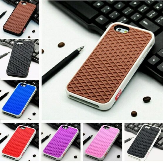VANS Waffle Case For Apple iPhone X 10 8 7 6 6S 5 5s 7 plus SE Cover Soft Rubber Silicone Waffle Shoe Sole Mobile Phone Funda
