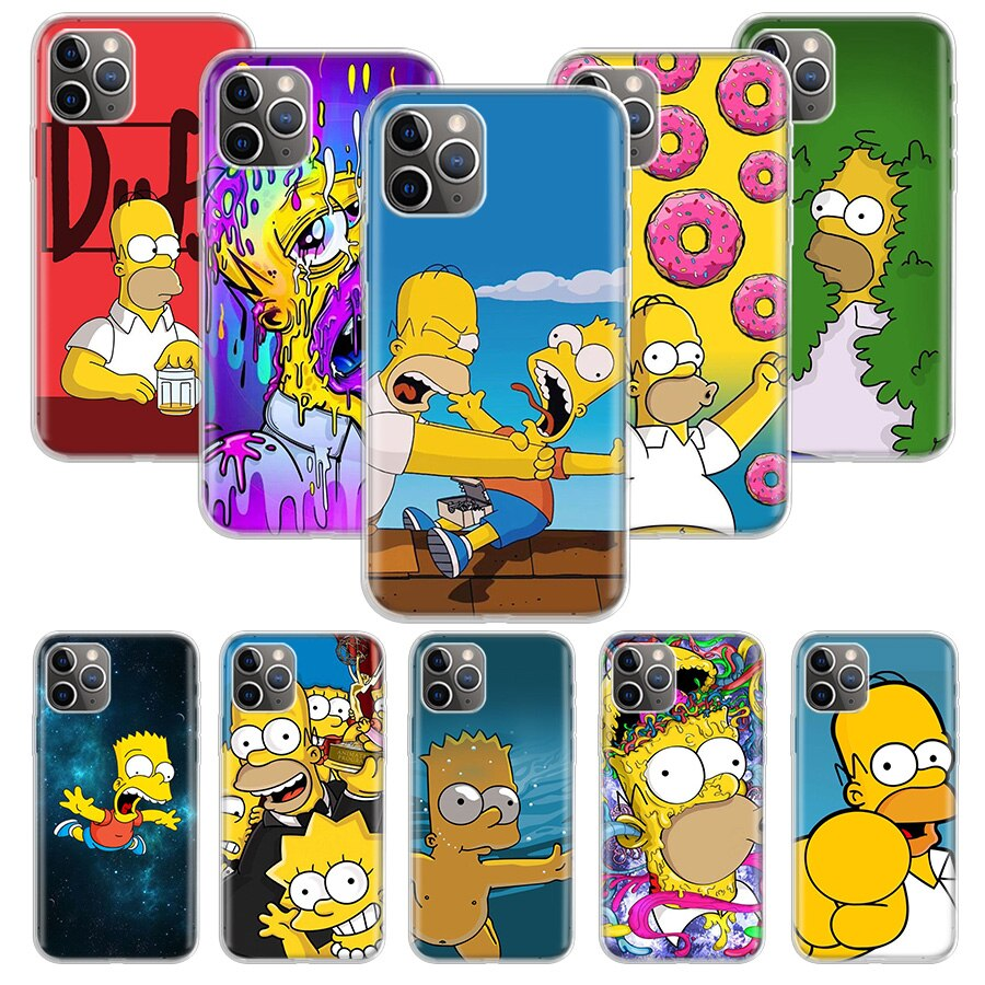 The Simpsons Case for Apple iphone 11 Pro XS Max XR X 7 8 6 6S Plus 5 5S SE 10 Ten Gift Silicone Phone Cover Coque