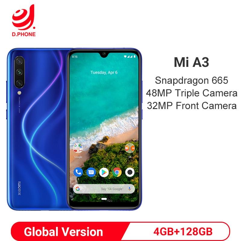 "Global Version Xiaomi MI A3 4GB 128GB Android One Snapdragon 665 Octa Core 6.088"" 48MP + 32MP Camera 4030mAh Smartphone"