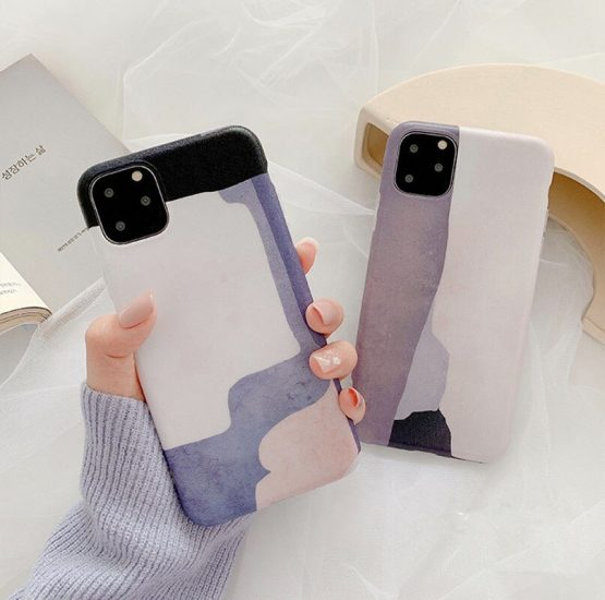 Art Oil Painting Case For iPhone 11 11Pro Max XS Max XR X 7 8 Plus Phone Case Abstract Soft Back Cover Fundas Coque
