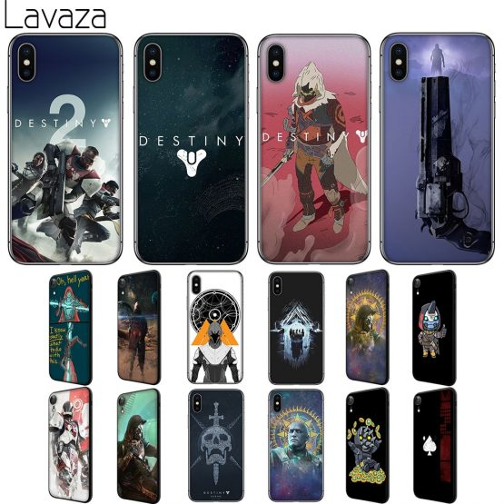 Lavaza Destiny 2 Soft Silicone Case Cover for Apple iPhone 6 6S 7 8 Plus 5 5S SE X XS 11 Pro MAX XR