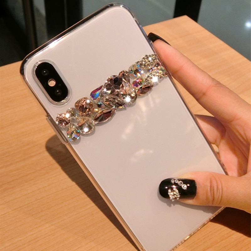 For iPhone XS Max X 8 7 6 Plus 11 Pro Case Luxury Bling Rhinestone Diamond Crystal Soft Transparent TPU Cover For iPhone XR Case