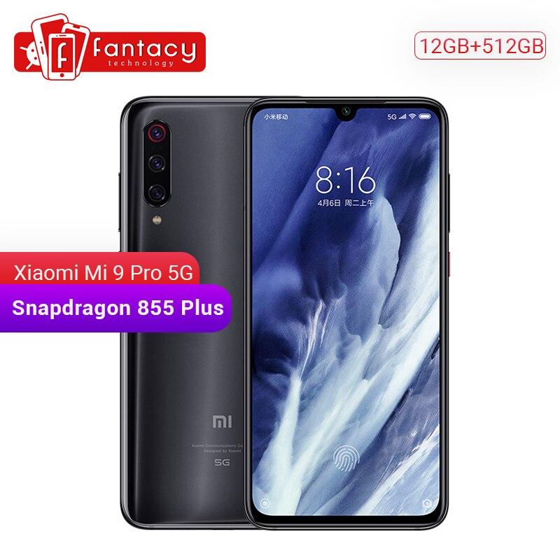 Original Xiaomi Mi 9 pro Mi9 Pro (5G) 12GB RAM 512GB ROM Smartphone Snapdragon 855 Plus 4000mAh 48MP Triple Cameras 45W Charger