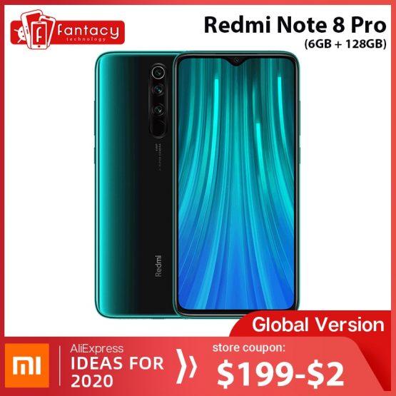Global Version Xiaomi Redmi Note 8 Pro 6GB RAM 128GB ROM 64MP Quad Cameras MTK Helio G90T Smartphone 4500mAh 18W QC 3.0 UFS 2.1