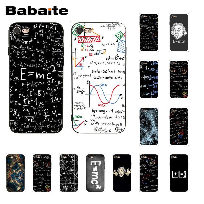 Babaite Formulas Math formul Mathematics E=mc2 Printing Phone Case for iphone 11 Pro 11Pro Max 8 7 6 6S Plus X XS MAX 5 5S SE XR