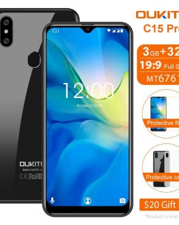 "OUKITEL C15 Pro+ 6.088"" WaterDrop Mobile Phone C15 Pro + Android 9.0 Cellphone 3GB 32GB MT6761 4G Quad Core Smartphone 3200mAh"
