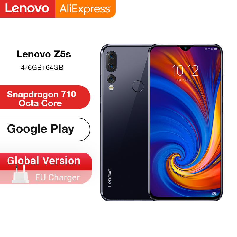 Global Version Lenovo Z5s Z5 S Smartphone Snapdragon 710 Octa Core Face ID 6.3inch Android P Triple Rear Camera Smartphone