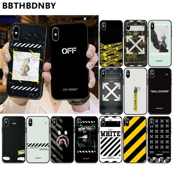 off ow For iphone X or XS Pochette Luxury Design Phone Fundas for iPhone 11 pro XS MAX 8 7 6 6S Plus X 5 5S SE XR case
