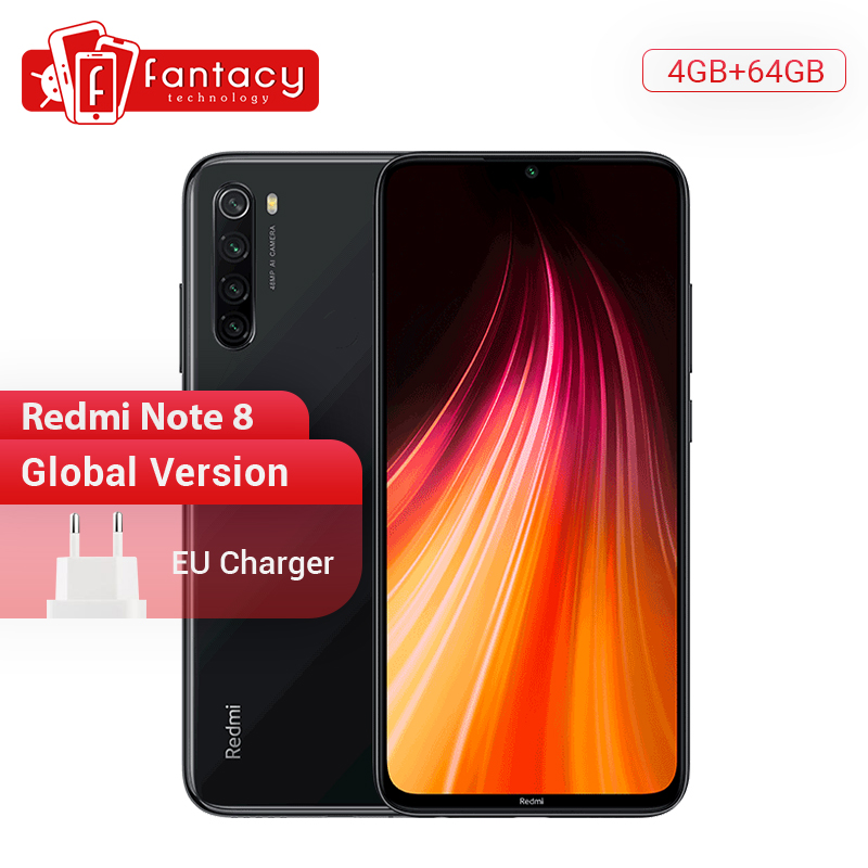 "Global Version Xiaomi Redmi Note 8 4G 64G 48MP Quad Camera Smartphone Snapdragon 665 Octa Core 6.3"" FHD Screen 4000mAh"