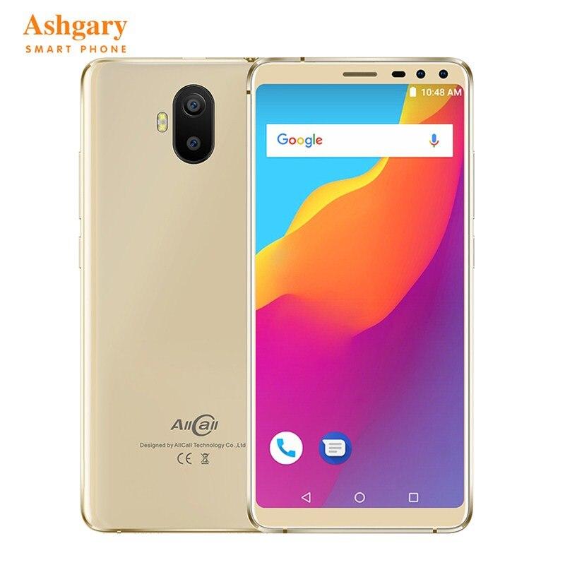 "AllCall S1 3G Smartphone Original Android 8.1 Phablet 5.5"" MT6580 Quad Core 2GB RAM 16GB ROM 13.0MP+2.0MP Rear Cameras 5000mAh"