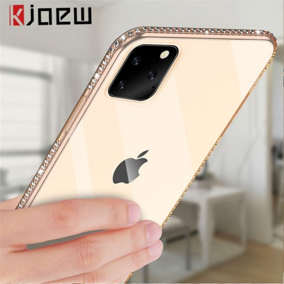 Case For iPhone 7 X XR XS MAX 8 6 6s Plus 11 Pro Max Bling Diamond Transparent KJOEW Phone Case For iPhone 7 X XR XS MAX 8 6 6s Plus 11 Pro Max Bling Diamond Transparent Crystal Soft TPU Back Cover Cases.