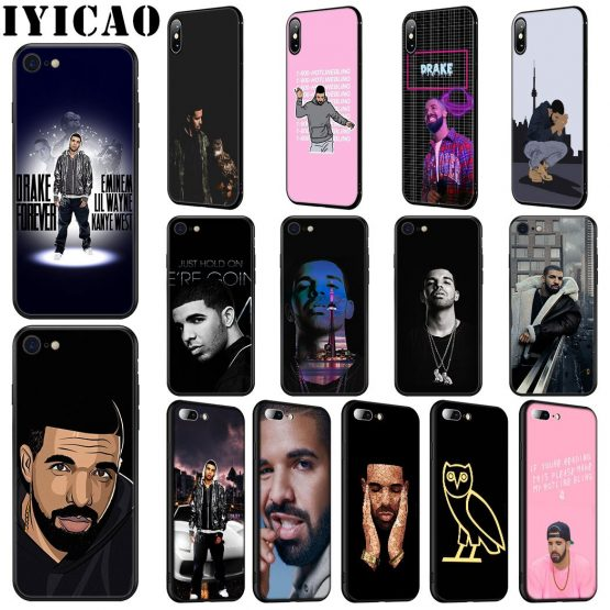 IYICAO Rapper Drake Soft Silicone Case for iPhone 11 Pro Max XR X XS Max 6 6S 7 8 Plus 5 5S SE Phone Case