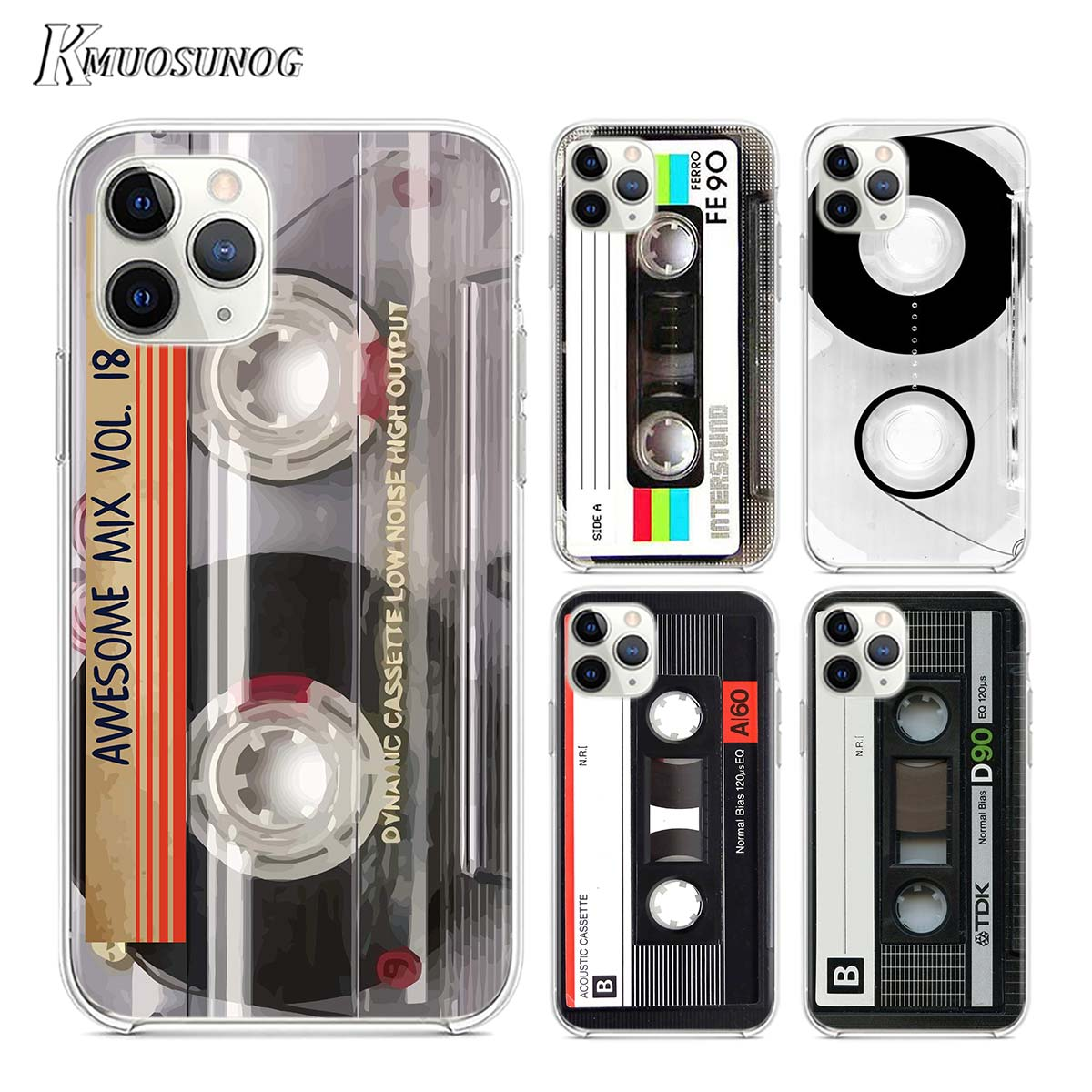 Transparent Clear TPU Cover Classical Old Cassette for iPhone 11 11Pro XS MAX XR X 8 7 6S 6 Plus 5S Phone Case
