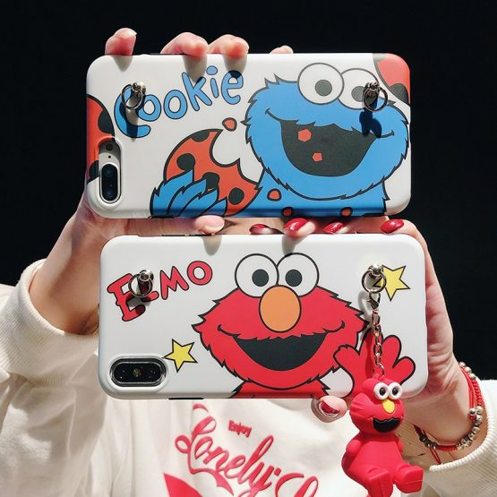 Cartoon Cute bracket Phone Case For iphone 11 Pro MAX X XR XS Max Cartoon Cute bracket Phone Case For iphone 11 Pro MAX X XR XS Max with Lanyard Soft silicone Matte Cover For iphone 7 8 6 s Plus.