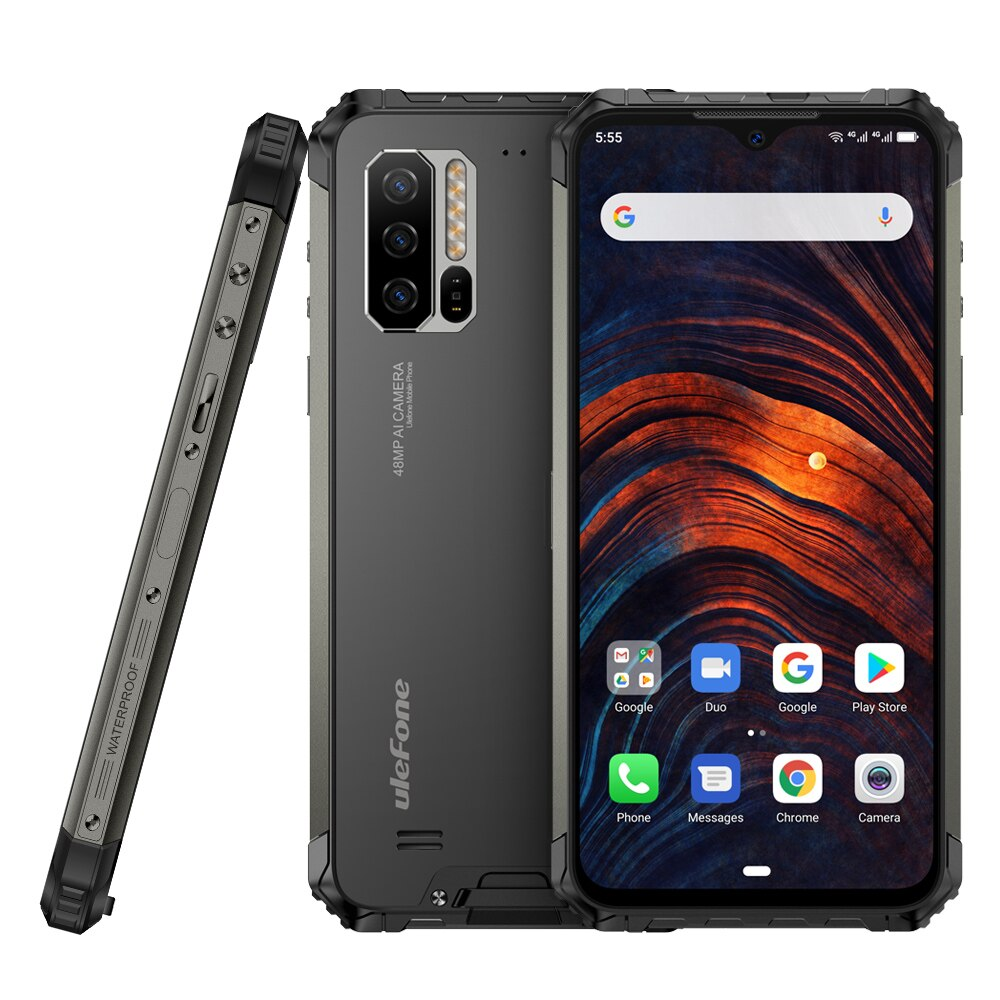 Ulefone Armor 7 4G LTE Smartphone Octa Core 8GB+128GB IP68 Rugged Mobile Phone Helio P90 Android 9.0 48MP Camera Global Vision