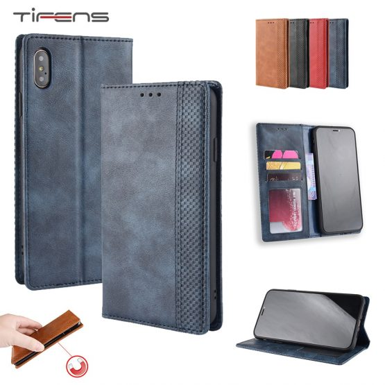 Leather Flip Wallet Phone Case For iPhone 11 Pro X XR XS MAX 8 7 6 6s + Plus Strong Magnetic Card Holder Cover Etui Shell Coque