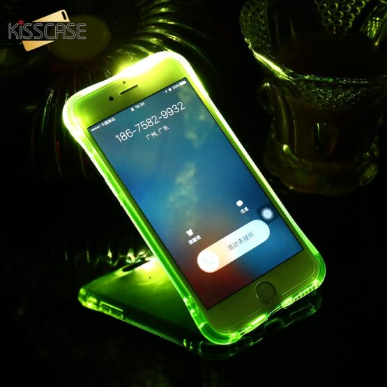 Call Light Case For iPhone 11 Pro XR XS MAX 5 5S SE 6 6S 7 8 Shockproof Clear LED Flash TPU Case For iPhone 11 Pro Max X XS Capa