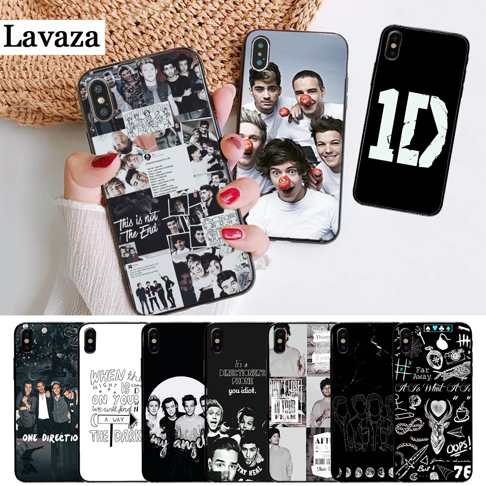 One Direction High-end Protector Silicone Case for iPhone 5 5S 6 6S Plus 7 8 11 Pro X XS Max XR