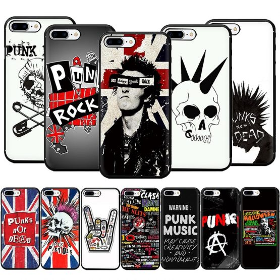 Punk Rock Soft TPU Phone Case for iPhone 11 Pro 5 5s 6 6s 7 8 Plus X XR XS MAX