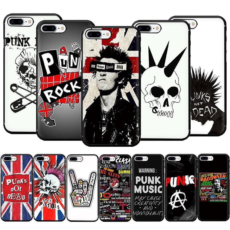 Punk Rock Soft TPU Phone Case for iPhone 11 Pro 5 5s 6 6s 7 8 Plus X XR XS MAX
