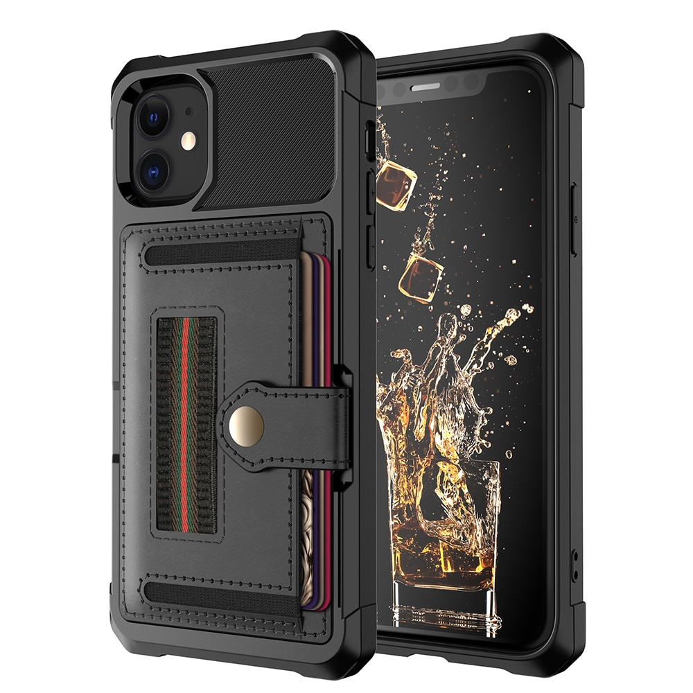 Luxury Card magnetic holder Phone Case For iPhone 11 Pro Max XR XS Max X 7 8 Plus Wallet Leather Soft TPU Protection Cover Shell