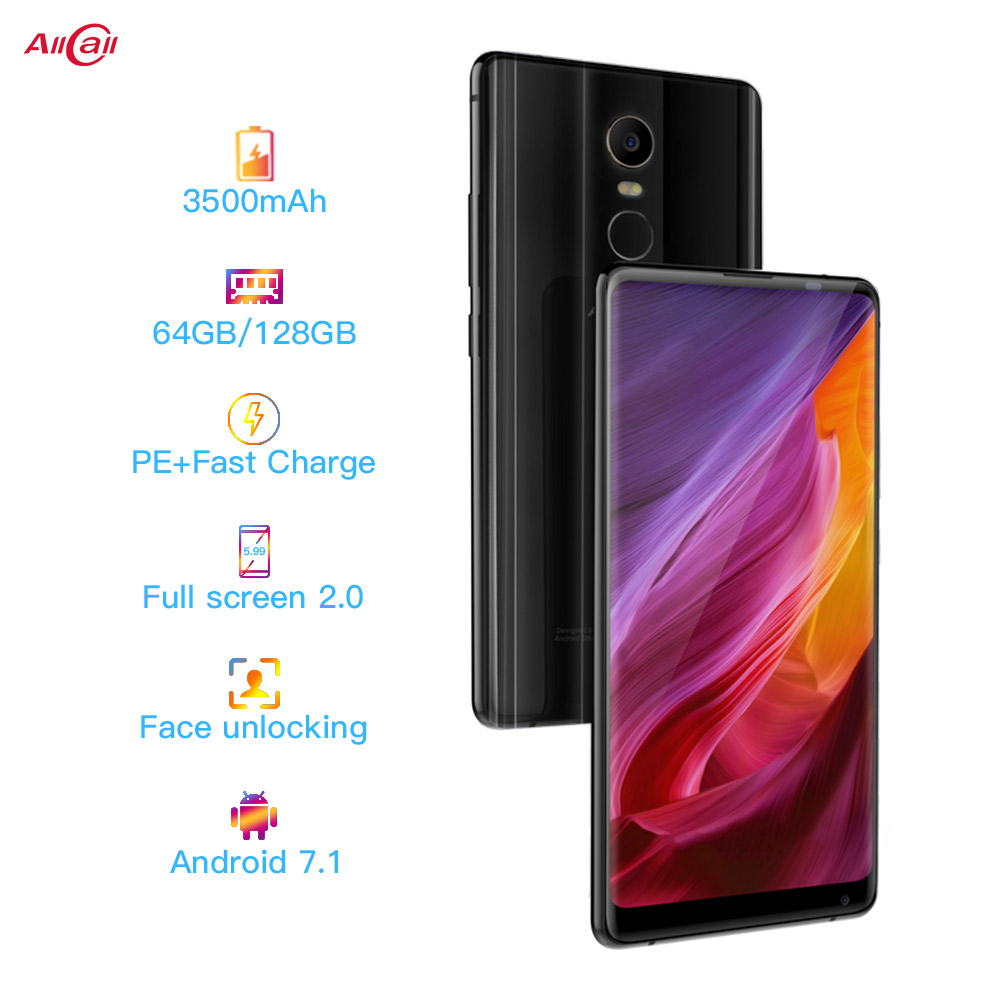 AllCall MIX 2 4G Mobile Phone Helio P23 Octa-Core 6GB RAM 64GB ROM 18:9 5.99 Inch FHD+ 16MP+8MP Wireless Charge SmartPhone