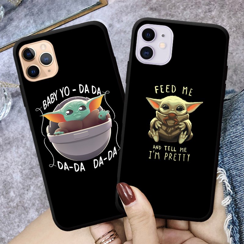 Cute Cartoon Baby Yoda Mandalorian Phone Case For iPhones 11 pro Xs Max 6s 7 8 Plus XR Soft Silicone Back Cover