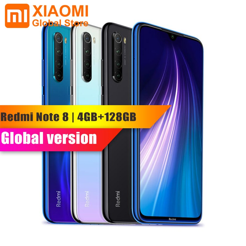 Global Version Xiaomi Redmi Note 8 4GB 128GB Smartphone Snapdragon 665 Octa Core 48MP Cam 4000mAh 18W Fast Charge Mobile Phone