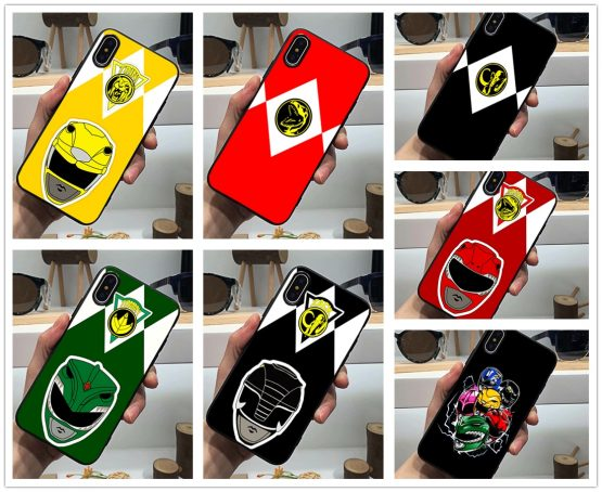 Power Rangers phone case hero black soft cover for iPhone 11 Pro Max 6 7 8plus 5S X XS XR XSMax For Samsung s10 s9 plus series