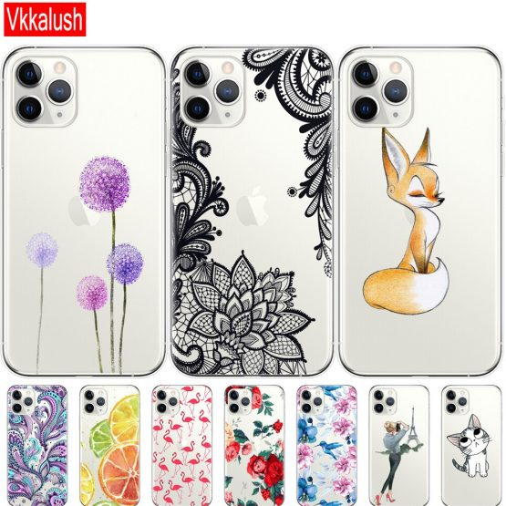 Silicon Cover Phone shell Case For iphone 11 Case for iphone 11 pro max eleven coque etui bumper back cover full 360 protective