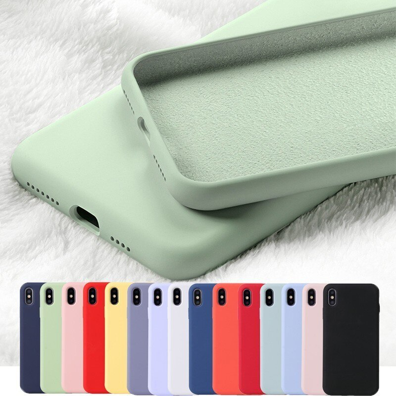 Xinksd Liquid Silicone Soft Rubber Phone Case For iPhone 11 Pro 6.1 XS Max XR X 8 7 8Plus 7Plus 6S 6 S Plus Candy TPU Back Cover