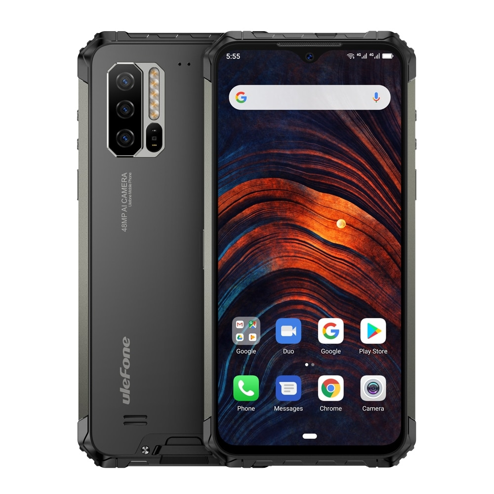 Ulefone Armor 7 IP68 Rugged Mobile Phone Helio P90 Octa Core 8GB+128GB Android 9.0 48MP 4G LTE Camera Global Vision Smartphone