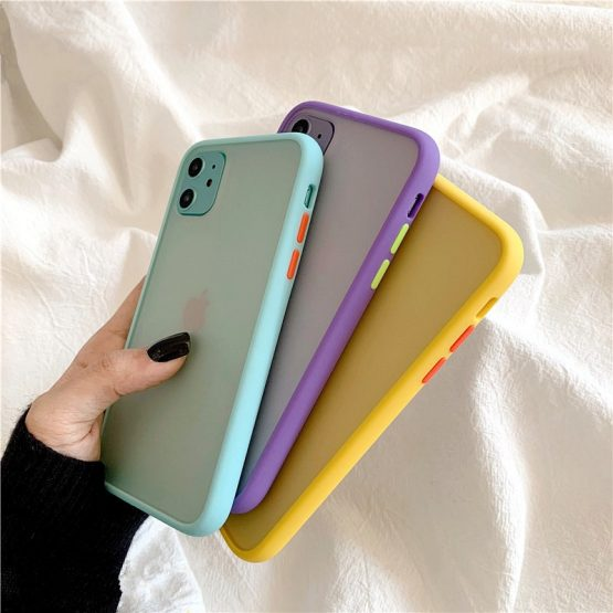 Mint Hybrid Simple Matte Bumper Phone Case for iPhone 11 Pro Max Xr Xs Max Mint Hybrid Simple Matte Bumper Phone Case for iPhone 11 Pro Max Xr Xs Max 6s 8 7 Plus Shockproof Soft Tpu Silicone Clear Cover.