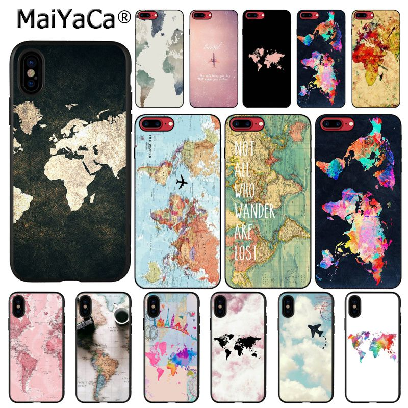 MaiYaCa Travel in the world map Plane plans Phone Case For iphone 11 Pro 11Pro Max 8 7 6 6S Plus X XS MAX 5 5S SE XR