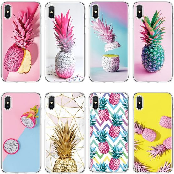 Pineapple Case For TPU Cover iPhone X 6 6s 7 8 Plus 8plus For iPhone 4 5 5S SE 5C For iPhone 11 Pro XS Max XR Luxury Case Coque