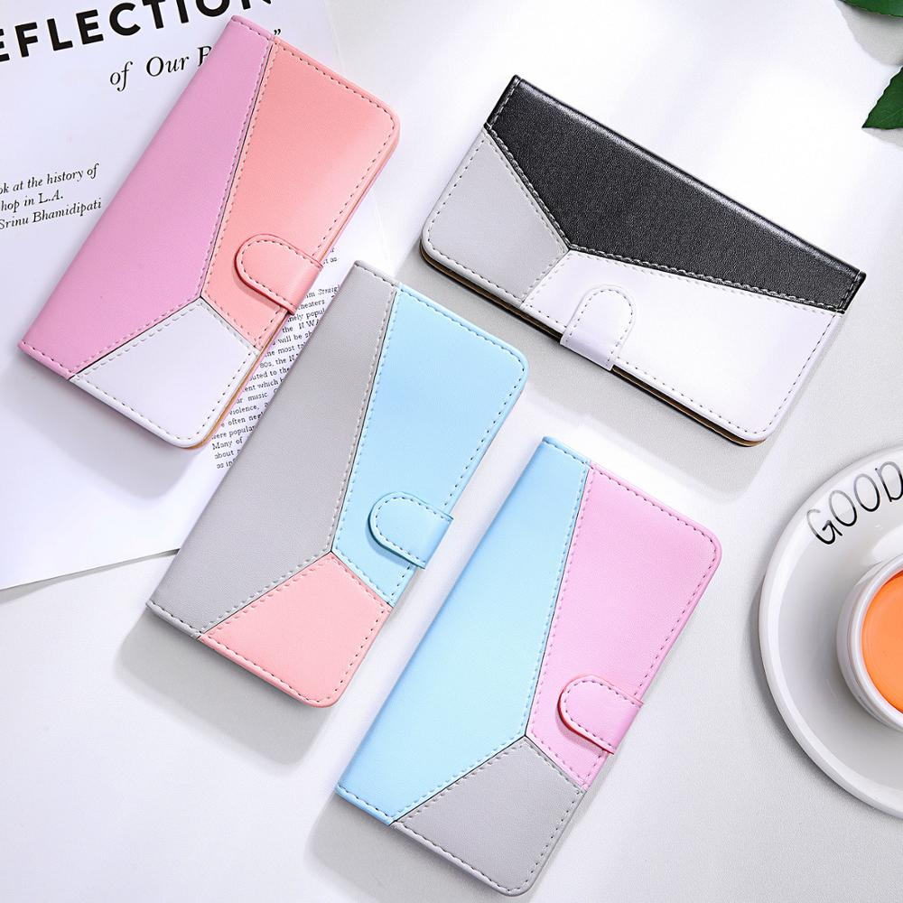 Mixed Colors Leather Flip Case For iPhone 11 Pro Max Wallet Case For iPhone 5S 5 6 6s 7 8 Plus X XS XR XS Max Phone Case Coque