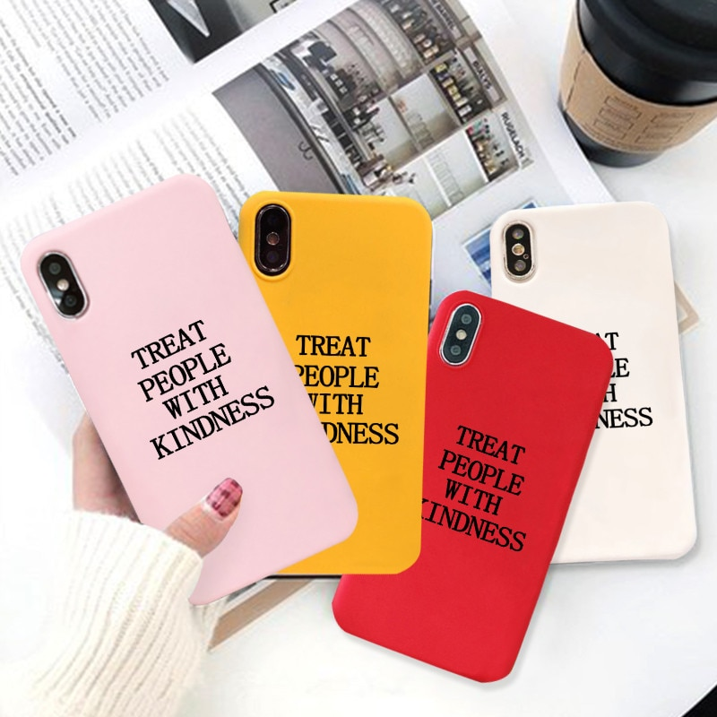 GYKZ Harry Styles Treat People With Kindness Phone Case For iPhone XS MAX 11 Pro X XR 7 8 6 Plus Candy Color Soft Silicone Cover