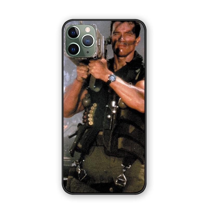 Arnold Schwarzenegger Film Commando 1985 poster back cover silicone TPU phone case For iphone 11 11pro 11proMax coque case shell